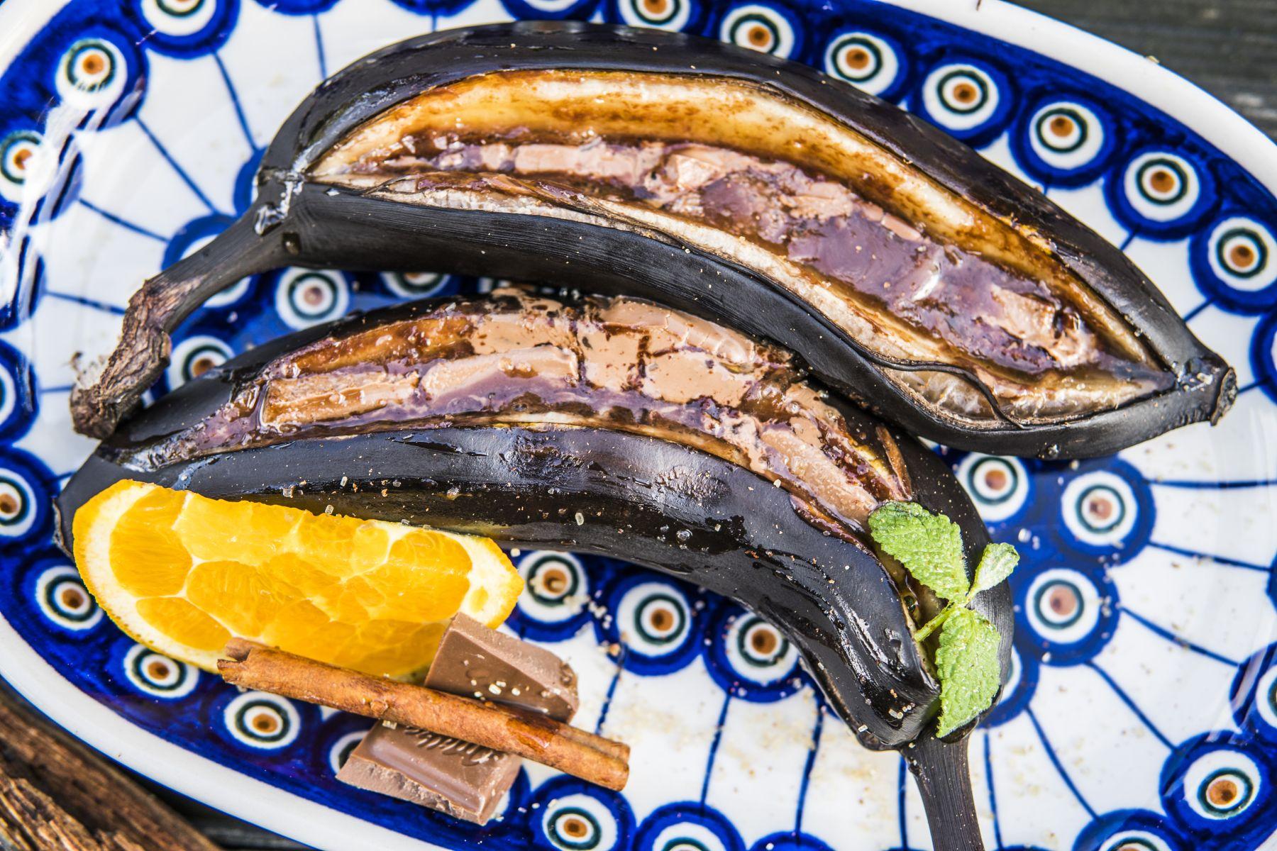 Grillowane banany z czekoladą Przepisy Michała Dobosza