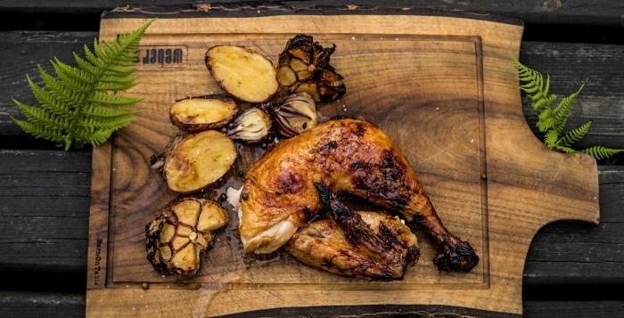 """Glazurowany Kurczak """"Earl Grey"""" w całości z grilla"""