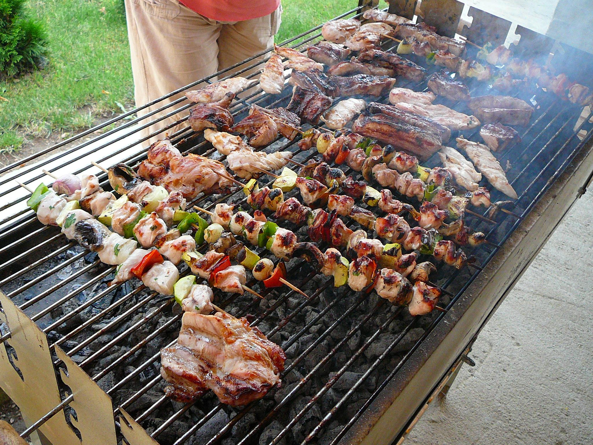 Barbecue a grill