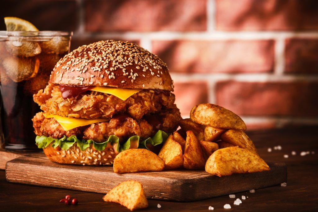 Burger z kurczakiem KFC
