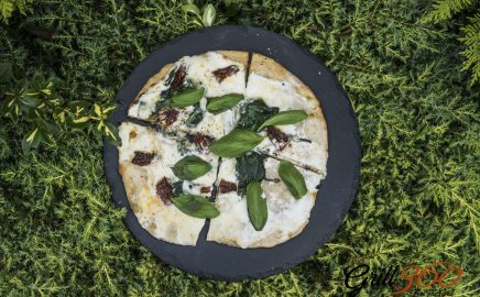 Pizza z grilla – francuska pizza z Creme Fraiche