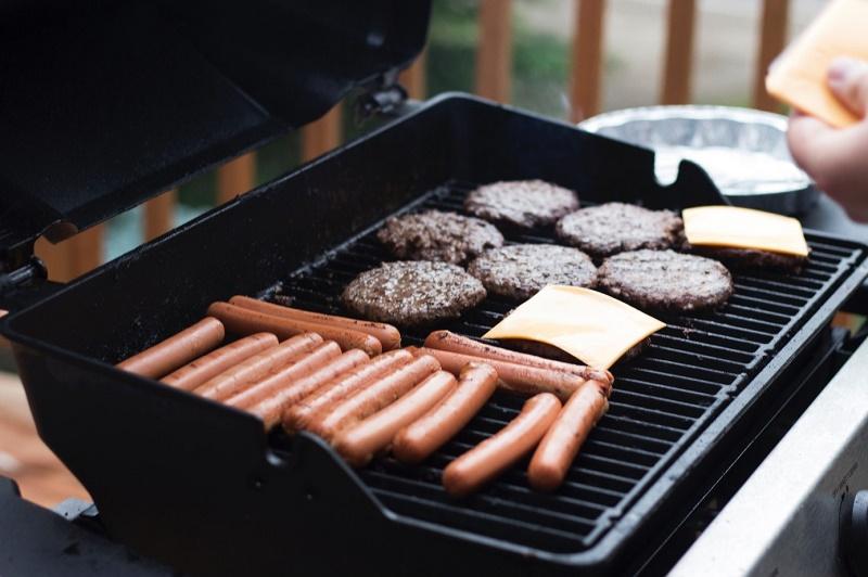 Gotowe jedzenie na grilla