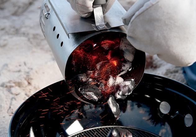 grill z węglem