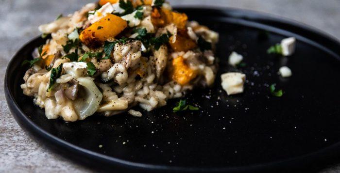Grillowane risotto zdynią, boczniakami ikozim serem [PRZEPIS LALA COMPANY]