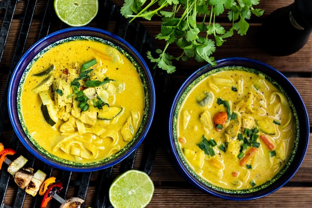 Zupa tajska z grilla