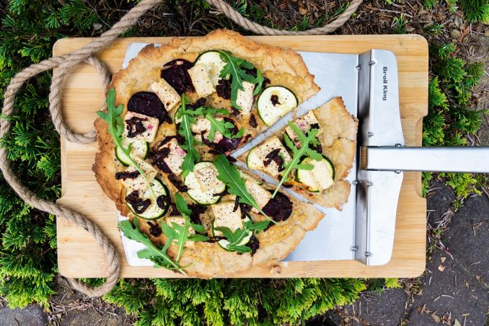 Pizza wegańska z grilla [PRZEPIS LALA COMPANY]