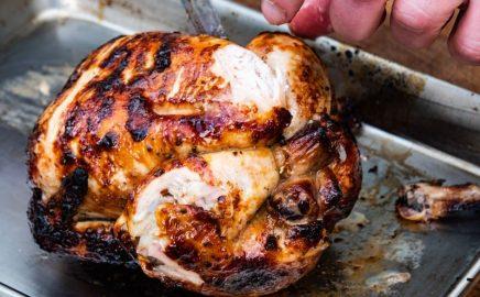 Czosnkowy kurczak z rożna