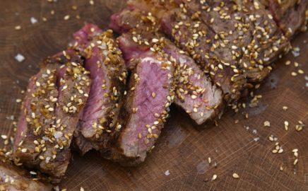 Stek wołowy z grilla po azjatycku