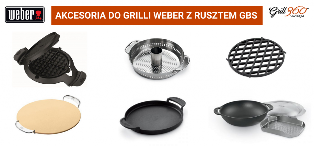 Akcesoria do grilli z rusztem Weber GBS